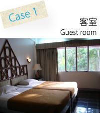 ホテル、旅館、民宿、ペンション、コンドミニアムなど、客室の臭いを完璧脱臭